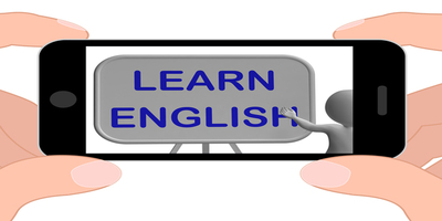 iphone that says learn english